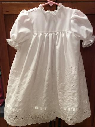 Eyelette Christening dress