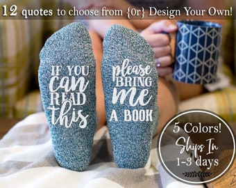 Mother Gift For Readers Christmas If You Can Read This Socks Literature Book Lovers Birthday Her