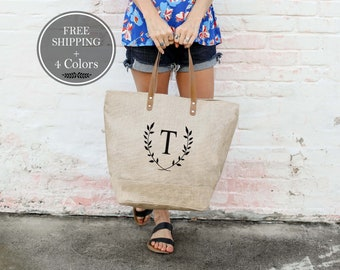 Mothers Day Gift For Wife Gift Personalized Bag Bridesmaid Gifts Bridesmaids Totes Personalized Tote Bags Tote Bag with Pockets Mom Gift