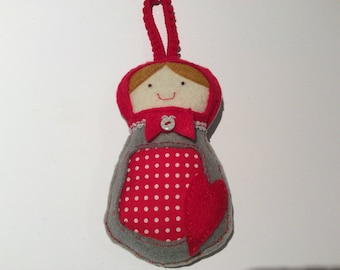 Little Russian Christmas dolly decoration