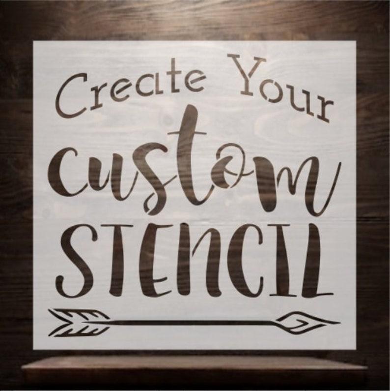 Custom Stencil / Custom Reusable Stencil / Stencil Wanderlust
