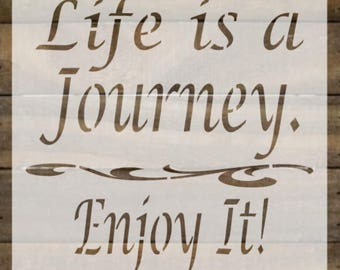 Life is a Journey stencil