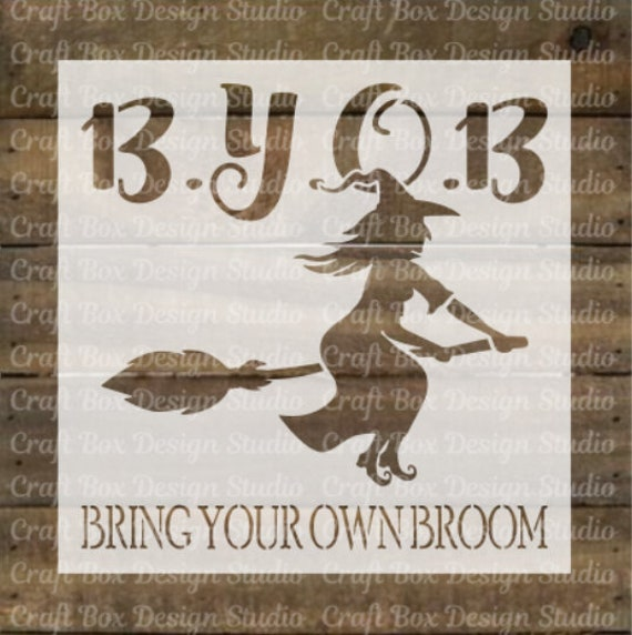Witch Stencil Halloween Stencil Witch Stencil Reusable Etsy