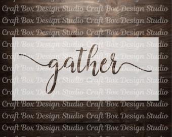 Gather Stencil / Thanksgiving Stencil / Gather Reusable Stencil