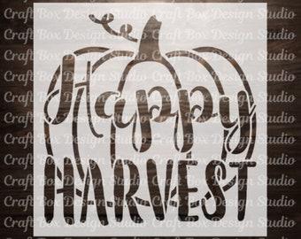 Happy Harvest Stencil / Thanksgiving Stencil