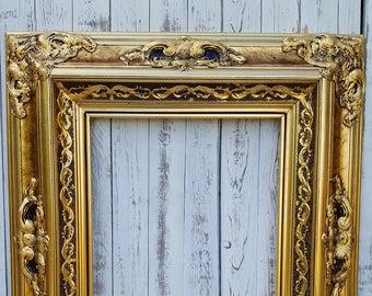 Gold Wood Frame Etsy