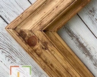 custom picture frame BARN Rustic wood frame country frame natural color wood