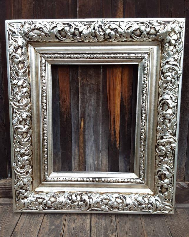 Colonial Style Frame Silver Leaf Wedding Frame Wedding Etsy