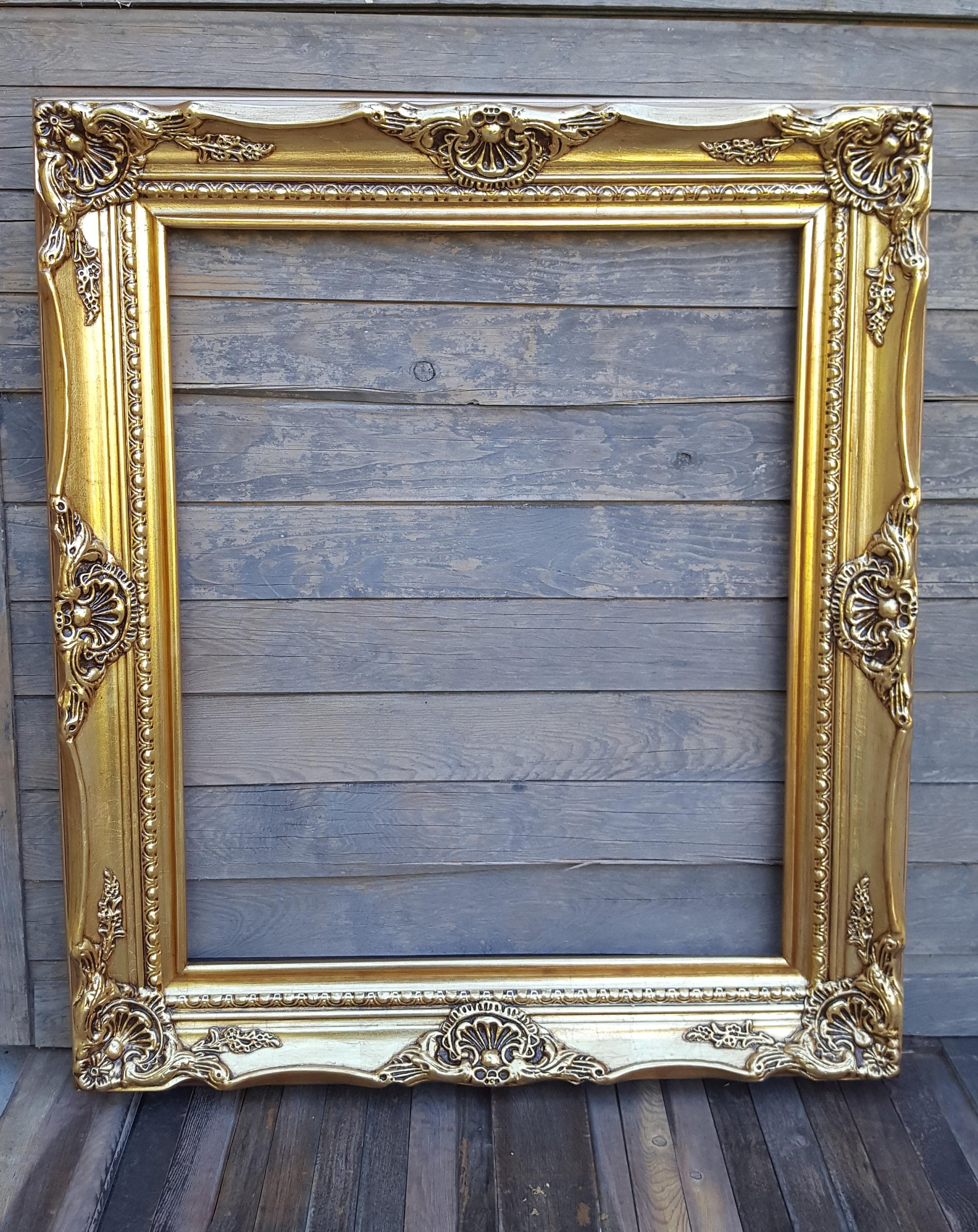Classic Colonial Style Wood Picture Frame Gold Leaf Frame Etsy