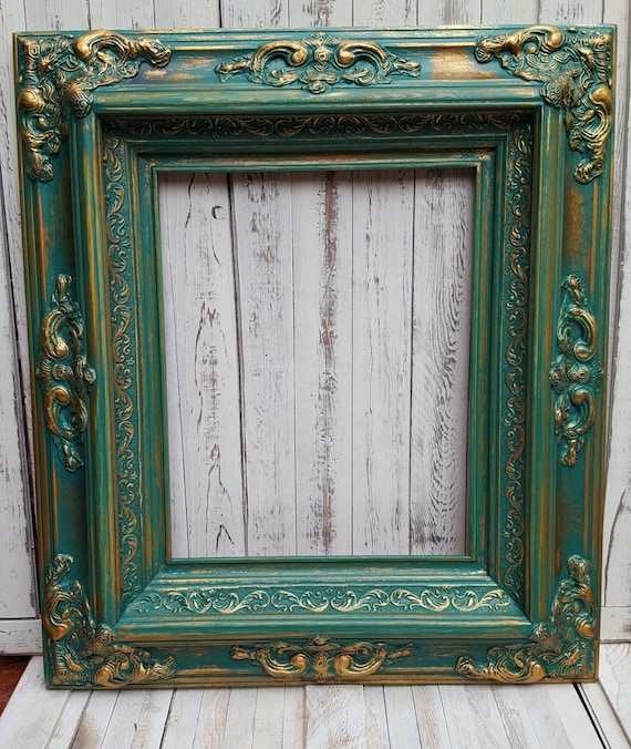 Baroque colonial Style Frame antique gold wedding   Etsy