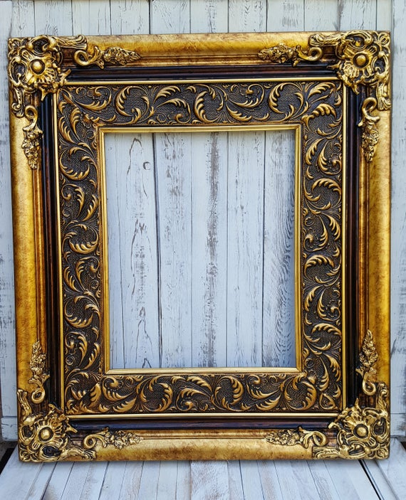 Baroque Style Frame Antique Gold Wedding Framecolonial Etsy