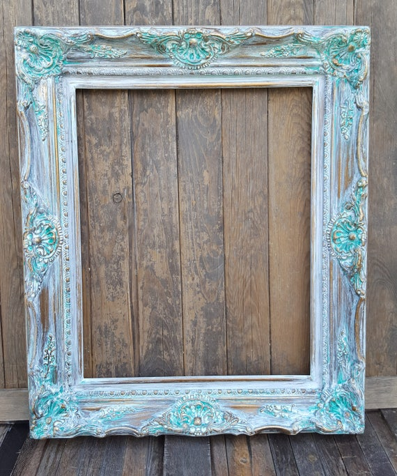 Colonial Shabby Chic Style Frame White Wash Wedding Frame Etsy