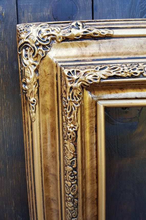 Traditional compo ornate wood frame photo frame bronze frame wood picture frame custom picture frame oil painting frame canvas frame