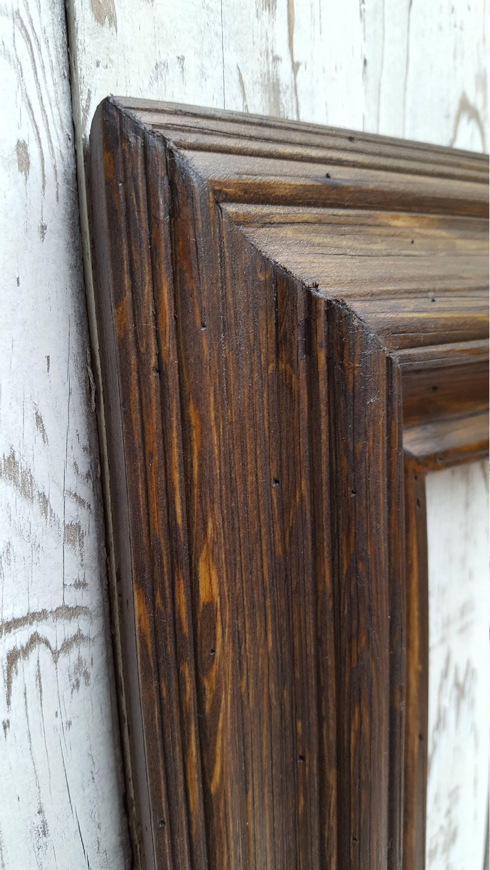 Portaretrato estilo occidental, marco rústico de madera, decoración ...