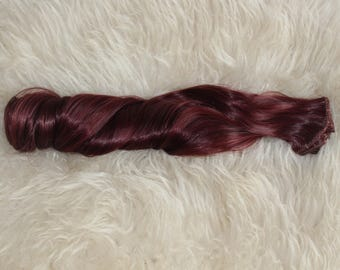 Hair Extensions Clip In Wavy 7 Piece High Quality Silk  Synthetic 20 Inch  (50cm) 118# Wine Red