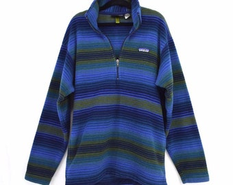 b425d1cf06de8 Patagonia Synchilla Fleece Pullover 1 4 Zip Vintage 90s USA Made Small  Unisex