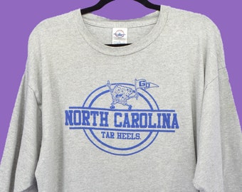 6b884bfad85 Vintage 90s North Carolina Tarheels T Shirt Sponge Bob 3 4 Length Sleeve  UNC Chapel Hill Size 2XL College Basketball Streetwear