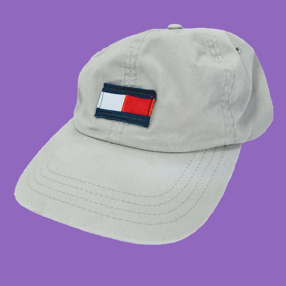 4a2281f5148 Vintage Tommy Hilfiger Baseball Hat Leather Adjustable