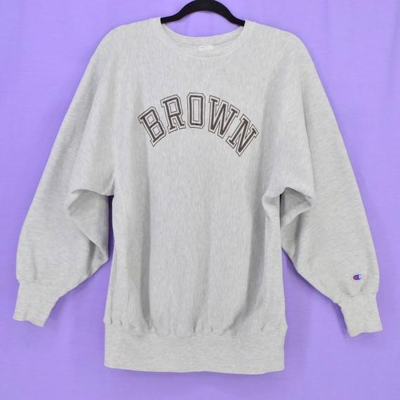 61261fda8291 Champion Reverse Weave Sweatshirt Brown University Large