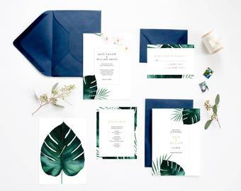 Hawaii Wedding Invitations Etsy