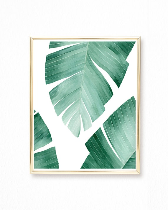 Watercolor Banana Leaf Painting Tropical Leaf Wall Art Etsy Choose from contactless same day delivery, drive up and more. watercolor banana leaf painting tropical leaf wall art giclee print watercolor painting abstract painting art print palm watercolor
