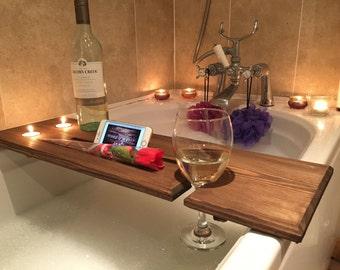 Relaxation Wooden Bath Board, Bath Caddy, Bath Rack, gift wrapped.
