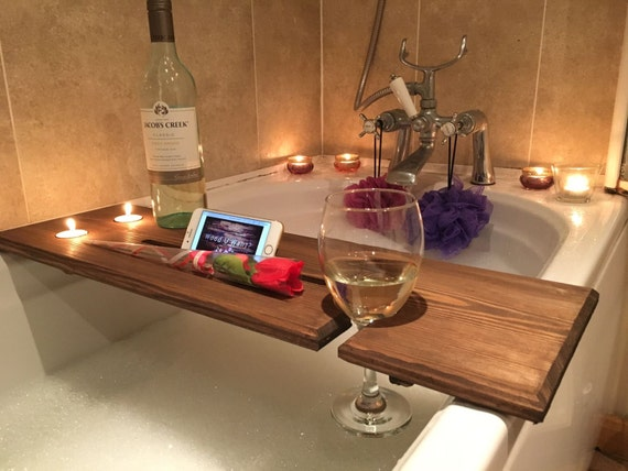 Relaxation Wooden Bath Board Bath Caddy Bath Rack gift | Etsy