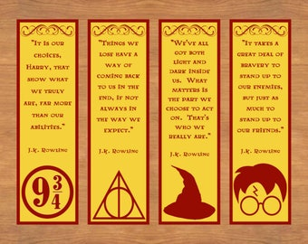It's just an image of Challenger Free Printable Harry Potter Bookmarks