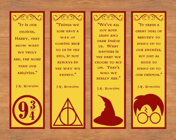 Harry Potter Lesezeichen druckbare Lesezeichen druckbare | Etsy