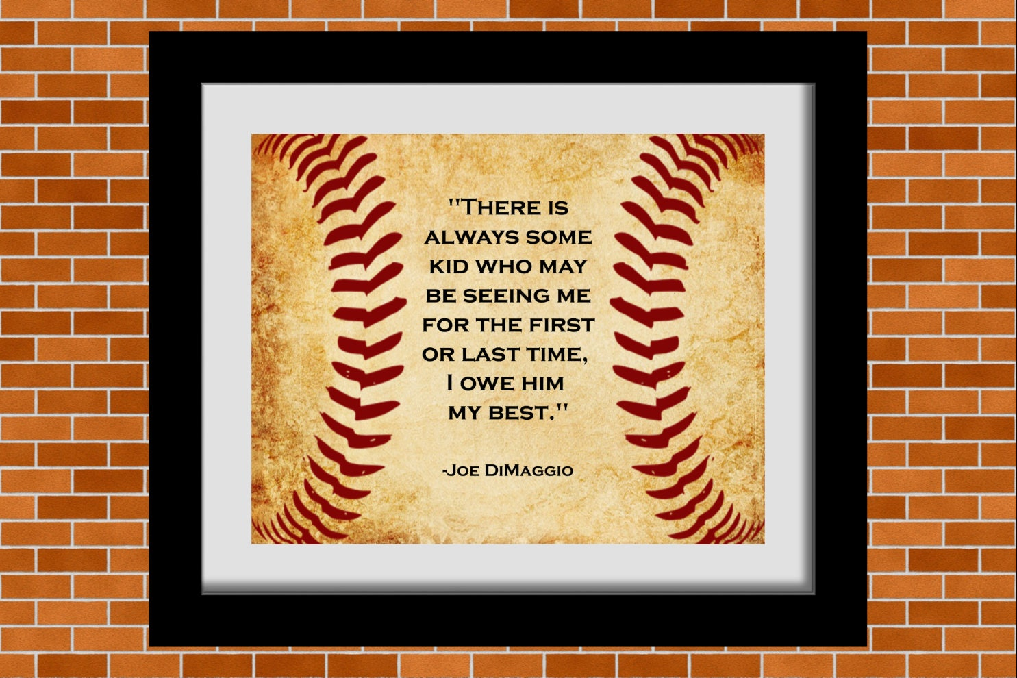 Printable Baseball Art Joe DiMaggio Baseball Quote Boys | Etsy