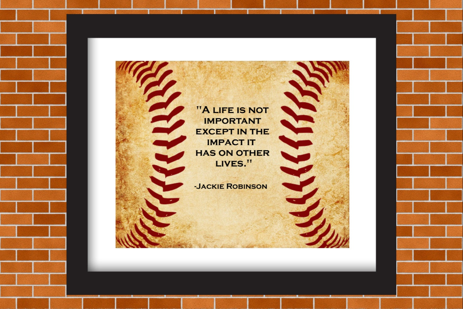 Printable Baseball Art Jackie Robinson Baseball Quote Boys | Etsy