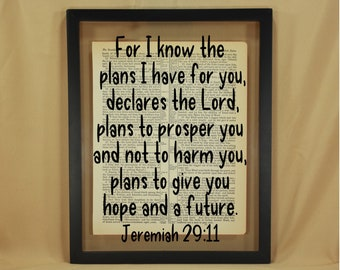 Jeremiah 29 11, Jeremiah 29 11 Wall Art, Jeremiah 29 11 Sign, For I Know the Plans I Have for You, For I Know the Plans I Have for You Sign