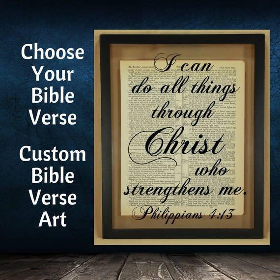 Custom Bible Verse Bible Verse Wall Art Scripture Wall Art | Etsy