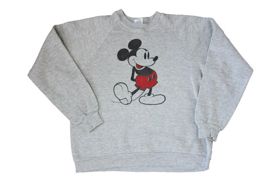 Vintage Sweatshirt - Mickey Mouse Raglan Sweatshir