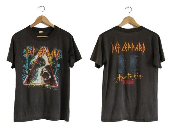Vintage T Shirt - Def Leppard Hysteria Shirt (80s