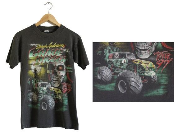 Vintage T Shirt - Grave Digger Shirt (90s - 1997 /