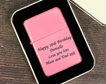 Personalised Pink Lighters Gifts Ideas For Birthday Christmas Mothers Day Womens Mum 18th 21st 30th 40th 50th Girls Ladies