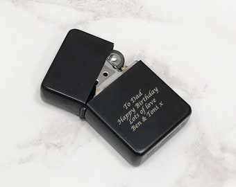 Personalised Black Lighters Gifts Ideas For Birthday Christmas Fathers Day Mens Boys Dad Uncle Son 18th 21st 30th 40th 50th Grandpa