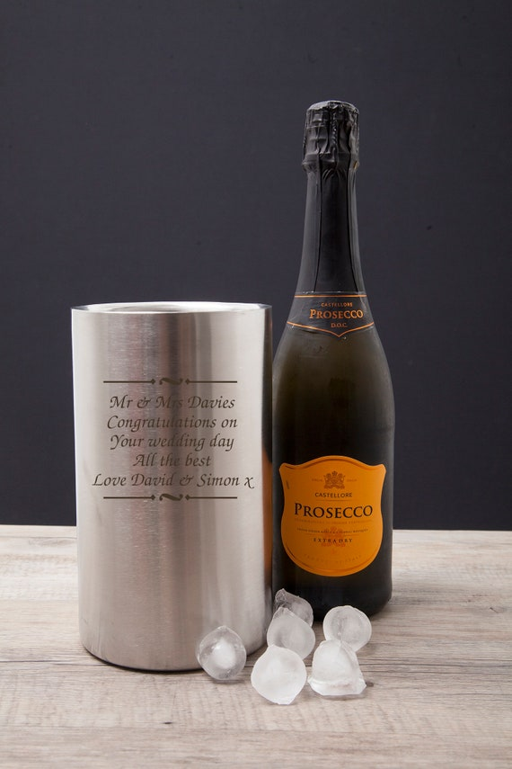 Personalised Stainless Steel Wine Cooler For Home House Warming Ideas New Gifts