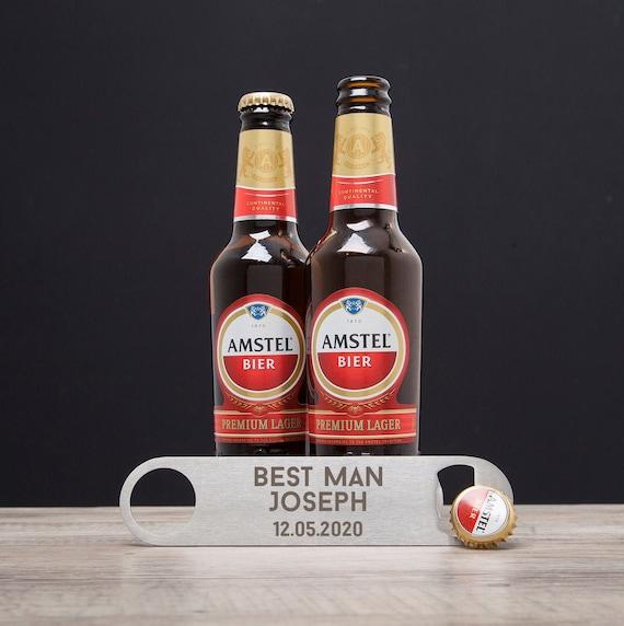 Abridores de botella Negro Personalizado Mejor Hombre Usher Boda Favores gracias Regalos