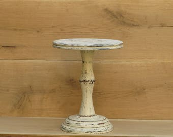 Custom 4-28 inch,Shabby White Wedding Cake stand,Tall shabby chic cake stand,Shabby White Cake Stand,Tall Wooden shabby cake stand,tier cake