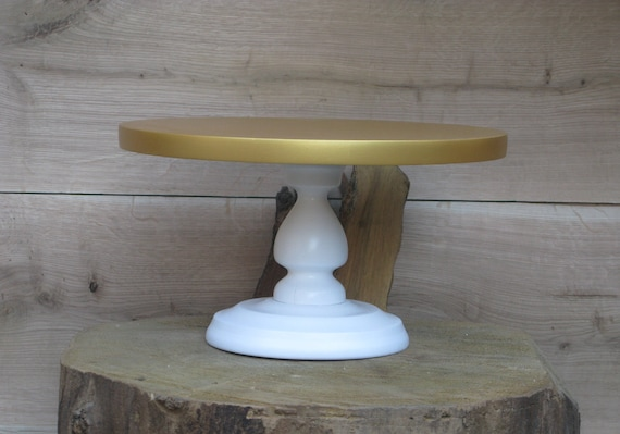 White Wood Cake Stand Wedding Centerpiece Wooden Cake Stand Etsy