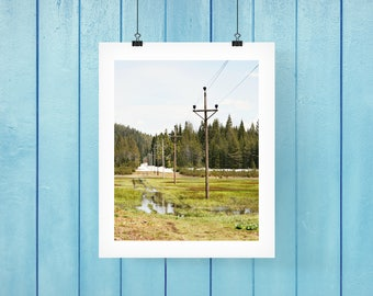 Poles fine art print, countryside, mountain views, photography