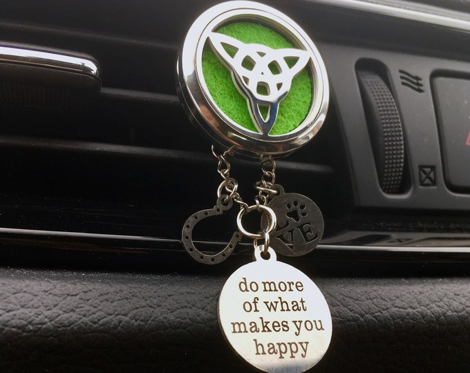 Car Diffuser, Trinity Locket, Aromatherapy Locket, Essential Oils Diffuser Locket, Celtic Knot
