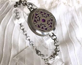 Aromatherapy Bracelet, Turtle Diffuser Locket, Yoga Essential Oils Bracelet, Healing Lava Beads