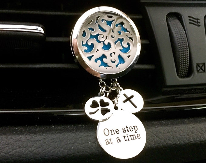 Car Aromatherapy Diffuser, Essential Oils Diffuser, Stainless Steel Diffuser Locket,