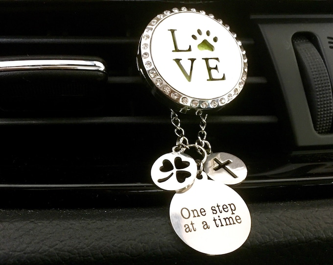 Car Diffuser, Aromatherapy Locket, Essential Oil Diffuser, Pet Love