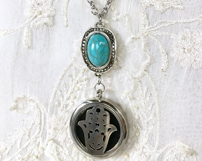 Aromatherapy Necklace, Diffuser Locket, Essential Oils Necklace