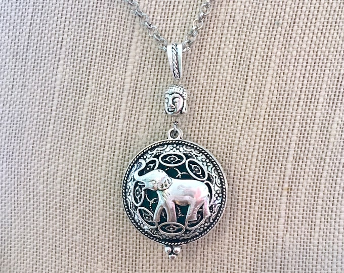 Aromatherapy Locket, Essential Oils Necklace, Elephant Diffuser Locket, Perfume Necklace, Scented Locket