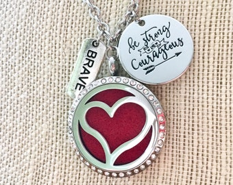 Didffuser Necklace, Essential Oils Locket, Aromatherapy Necklace